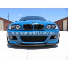 Элерон под М бампер на BMW E46 мтех 2